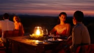 dining at night in the outback