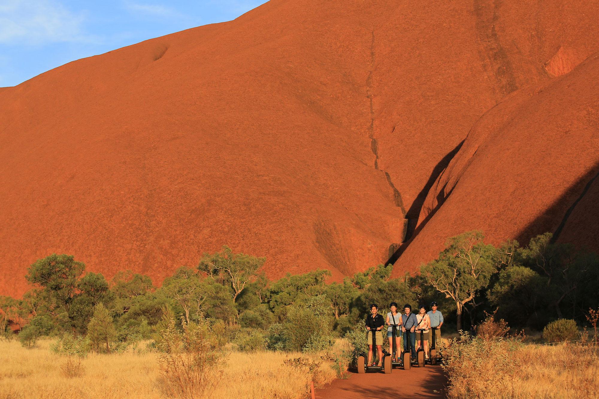 segways past Uluru
