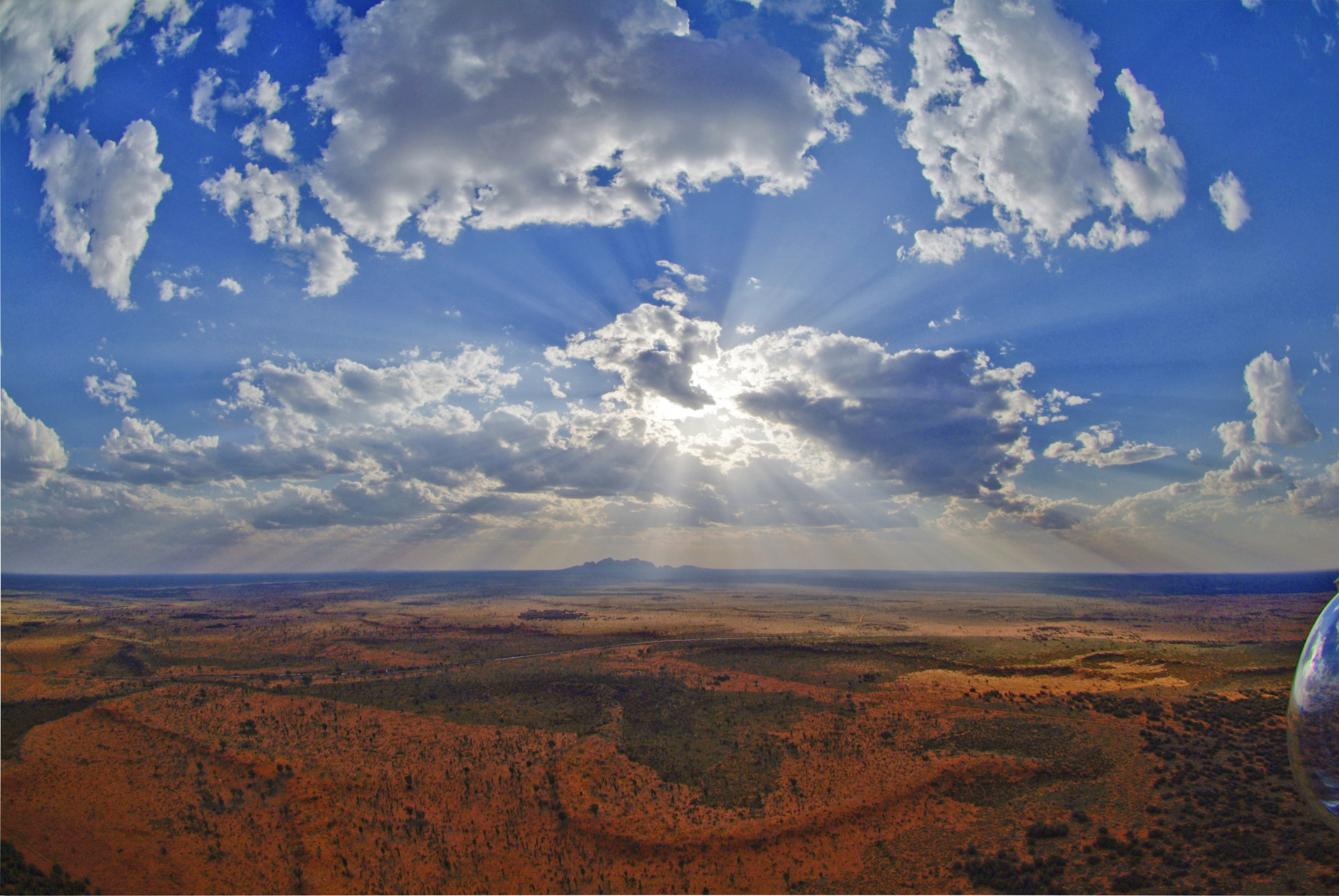 aerial view of the outback