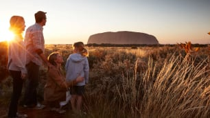 family by Ayers Rock