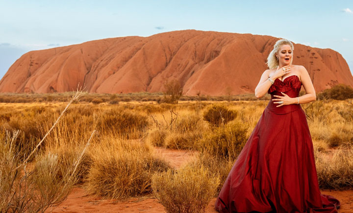 an opera singer in the outback