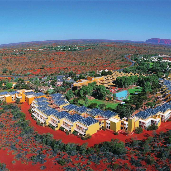 aerial view of Ayers Rock Resort