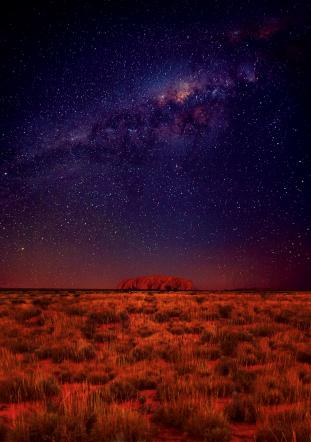 Starry night at Ayers Rock