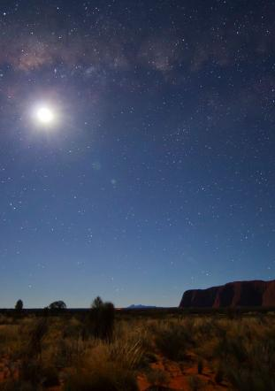 Stars above Ayers Rock